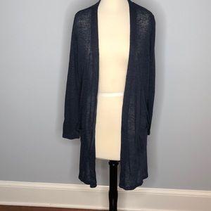 Blue sheer lightweight sweater cardigan